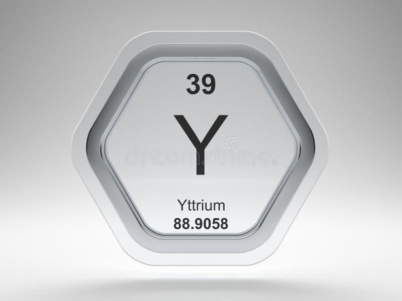 Yttrium symbol hexagon frame stock illustration