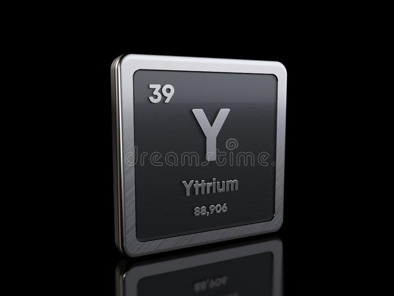 Yttrium Y, element symbol from periodic table series vector illustration