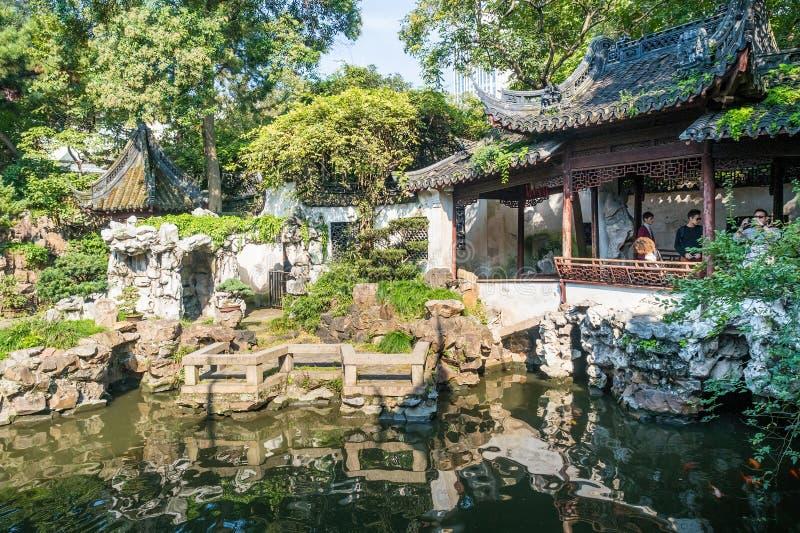 Yu元Yu庭院,上海,中国 免版税图库摄影