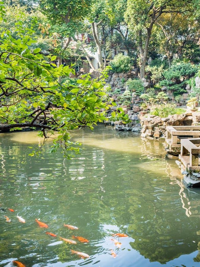 Yu元Yu庭院,上海,中国 图库摄影