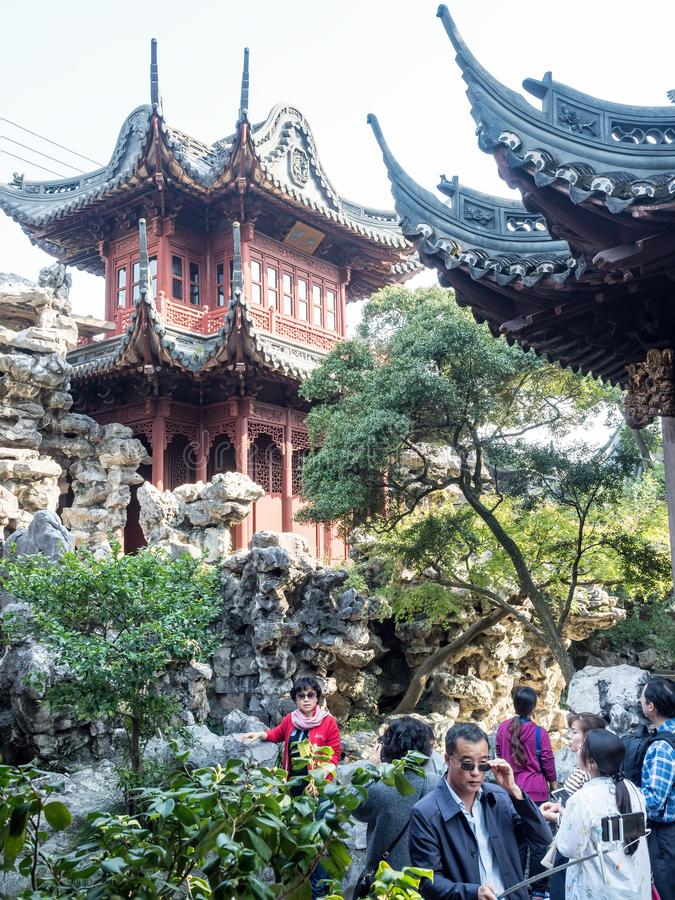 Yu元Yu庭院,上海,中国 免版税库存图片