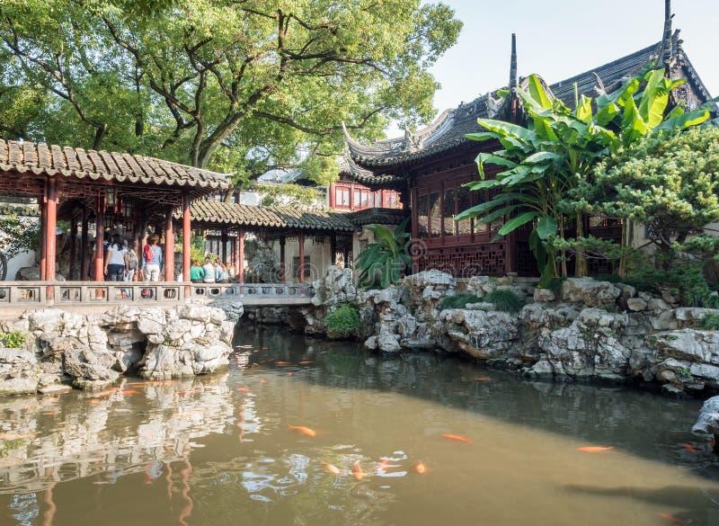 Yu元Yu庭院,上海,中国 免版税库存照片