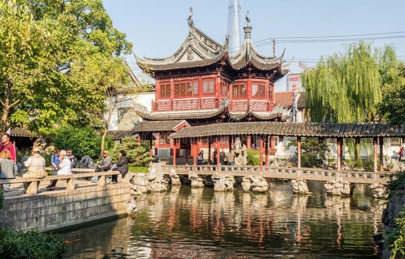 Yu元Yu庭院,上海,中国 库存图片