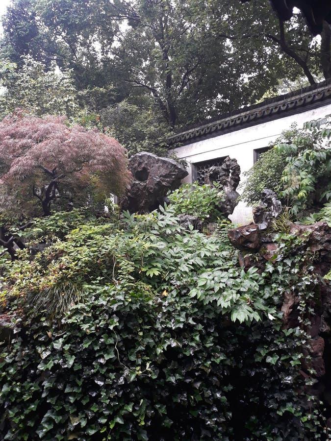 Yu庭院上海 免版税库存照片
