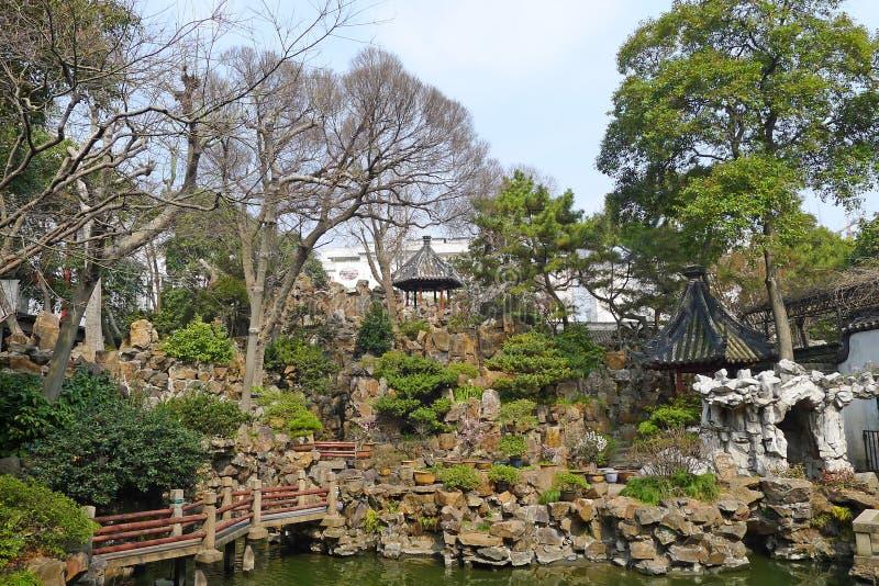 Yu庭院在上海 免版税图库摄影