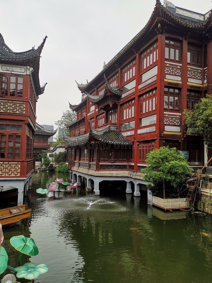 Yu庭院,上海中国 库存照片