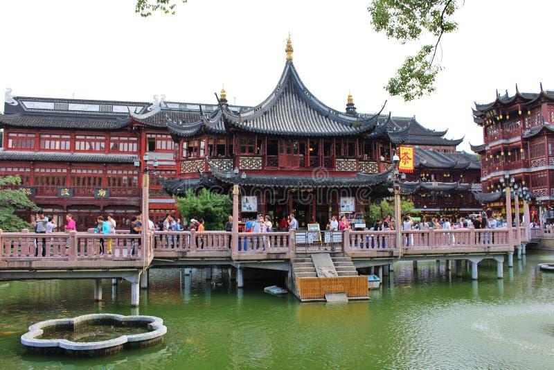 Yu庭院,上海 库存图片