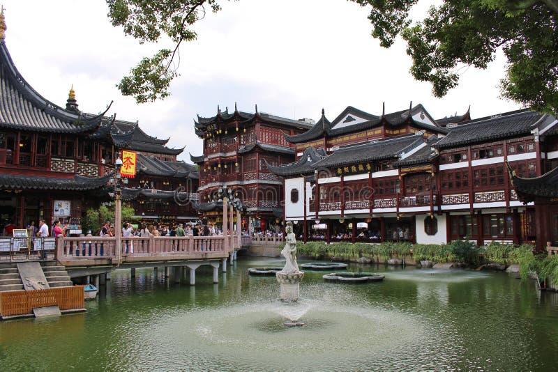 Yu庭院,上海 库存照片