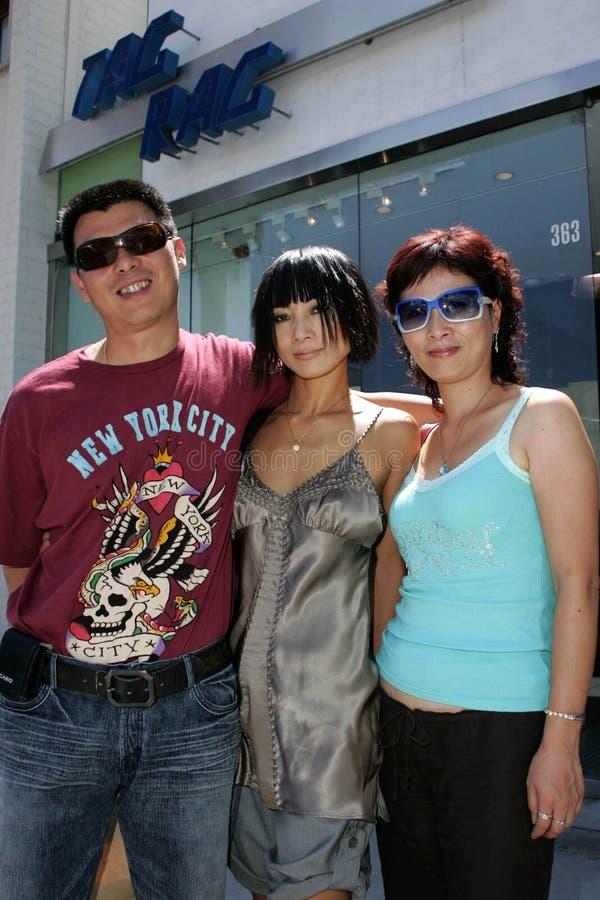 Yu Cho con Bai Ling y Bai Jie imágenes de archivo libres de regalías