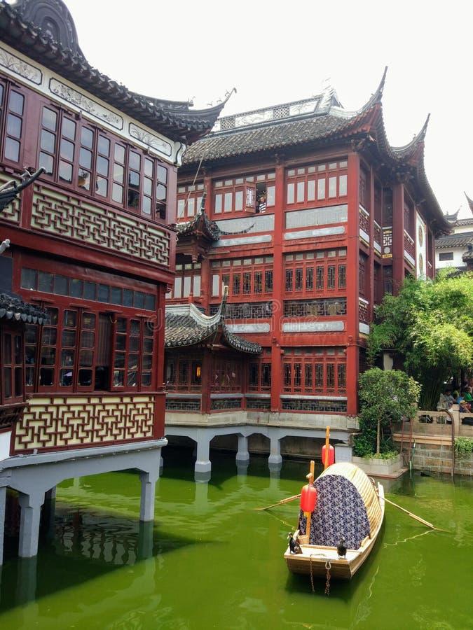 Yu jardin Changhaï en mai 2017 image stock
