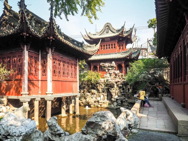 Yu Juan Yu ogród, Szanghaj, Chiny obraz stock