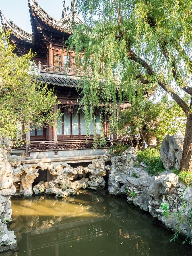 Yu Juan Yu ogród, Szanghaj, Chiny zdjęcie royalty free