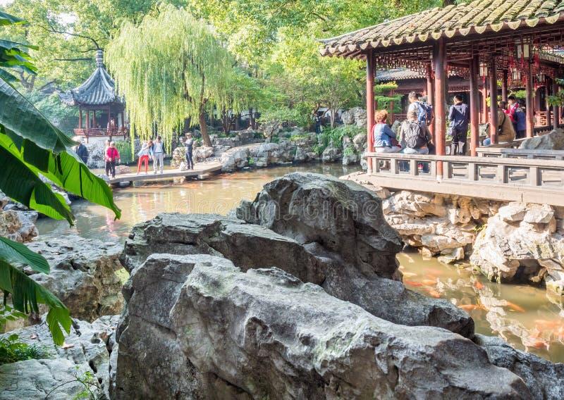 Yu Juan Yu ogród, Szanghaj, Chiny zdjęcia stock