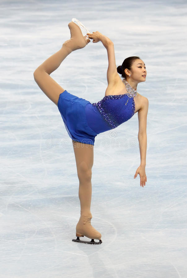 Yu-Na KIM (KOR) free skating royalty free stock image