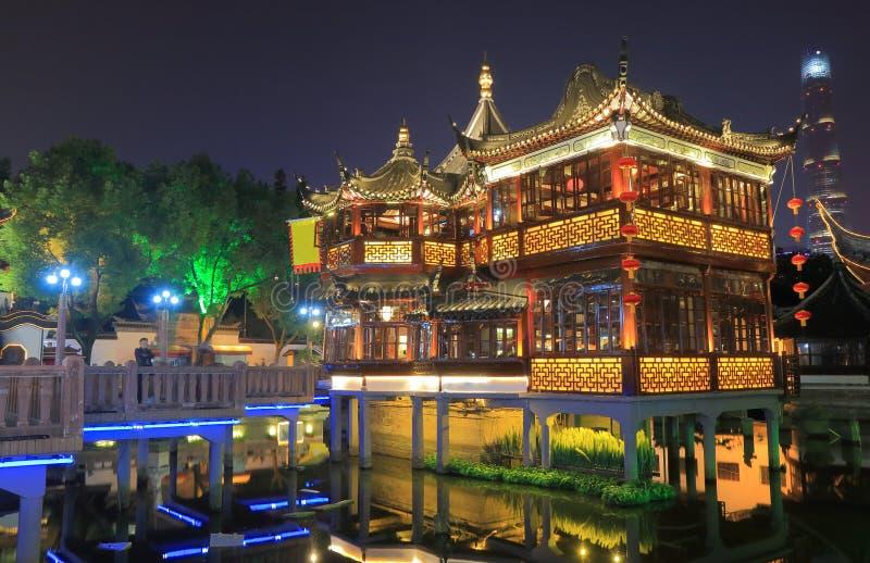 Yu ogródu Szanghaj noc Chiny fotografia stock