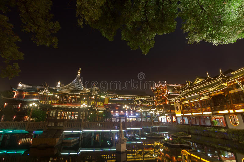 Yu Yuan Garden at night Shanghai ,China royalty free stock photos