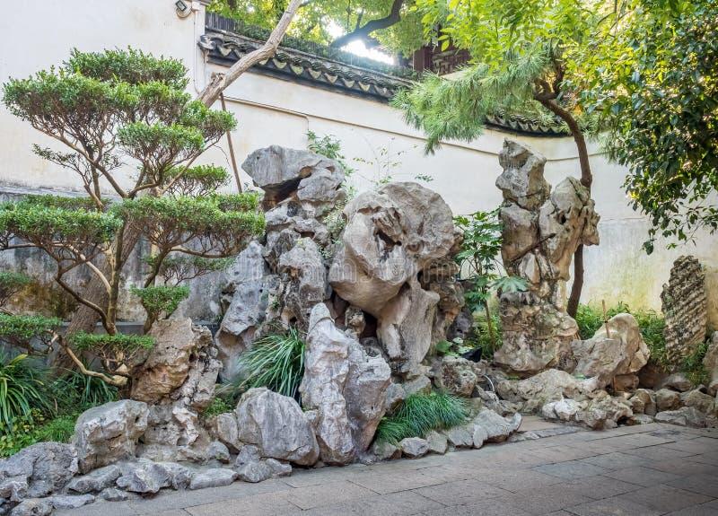 Yu Yuan Yu Garden, Shanghai, China stock afbeelding