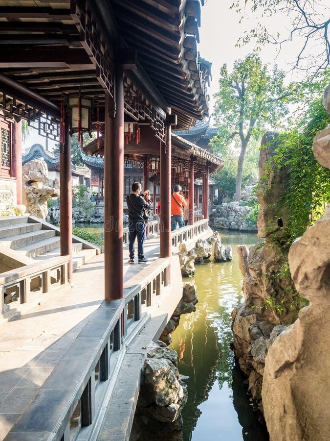 Yu Yuan Yu Garden, Shanghai, Kina royaltyfri foto