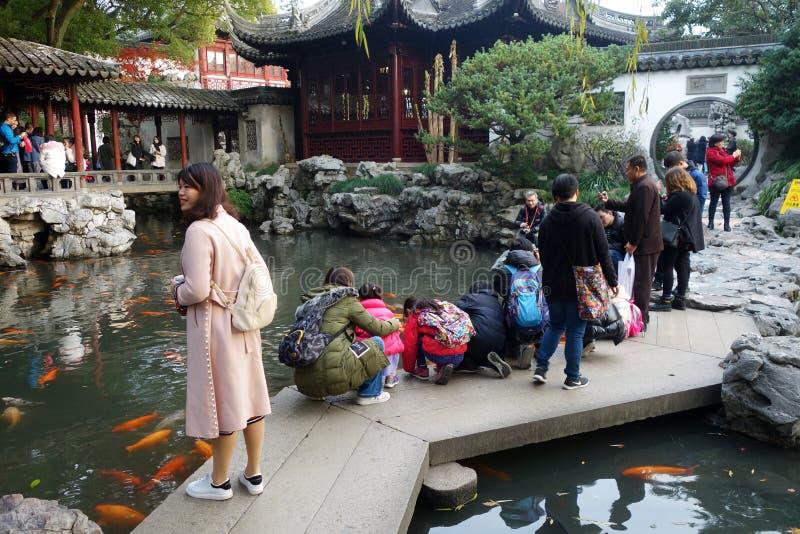 Yu Yuan Yu Gardenin Shanghai, Kina arkivfoto