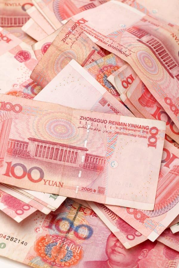 100 yuan foto de archivo libre de regalías