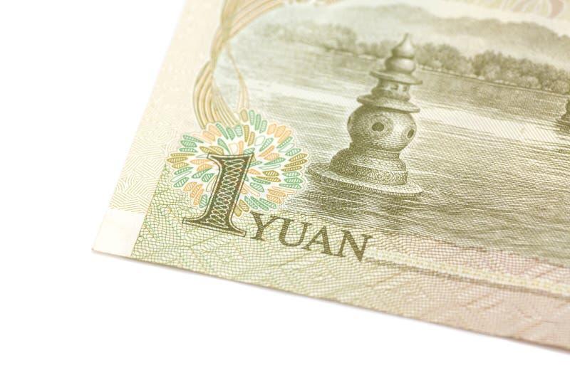 1 yuan kinesvaluta fotografering för bildbyråer