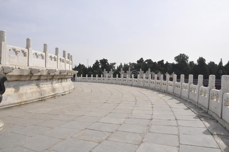 Circular Mound Altar from the Temple of Heaven in Beijing. Yuanqiu the Circular Mound Altar from the Temple of Heaven the Imperial Religious Complex Buildings in royalty free stock photography