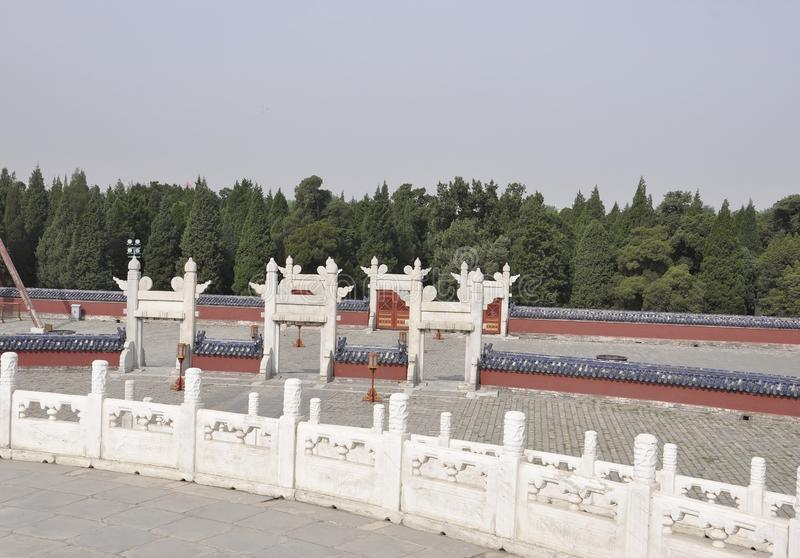 Circular Mound Altar from the Temple of Heaven in Beijing. Yuanqiu the Circular Mound Altar from the Temple of Heaven the Imperial Religious Complex Buildings in royalty free stock images