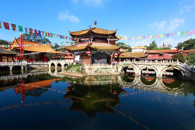 Yuantong Kunming tempel arkivbilder