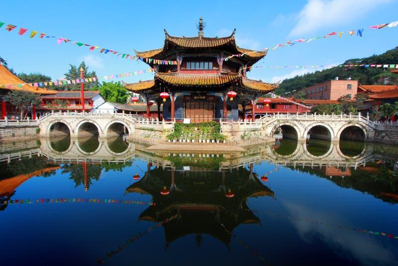 Yuantong Kunming tempel fotografering för bildbyråer