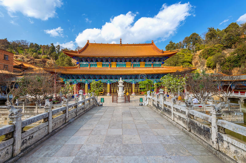 Yuantong Kunming tempel av Yunnan arkivfoton
