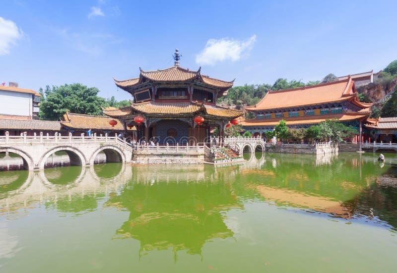 Yuantong Kunming tempel i solig dag, Kunming huvudstad av Yu arkivbilder