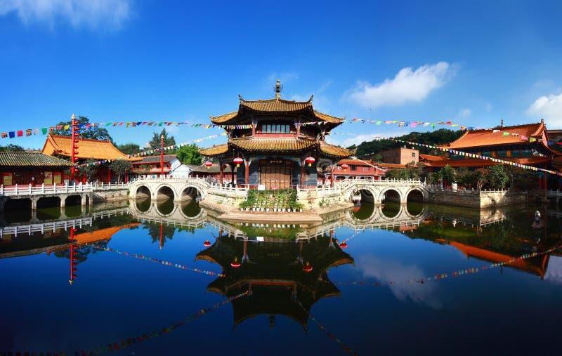 Yuantong Kunming tempelpanorama royaltyfri foto
