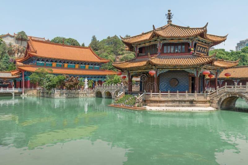 Yuantong Kunming tempelpanorama, Kunming huvudstad av Yunnan arkivbilder