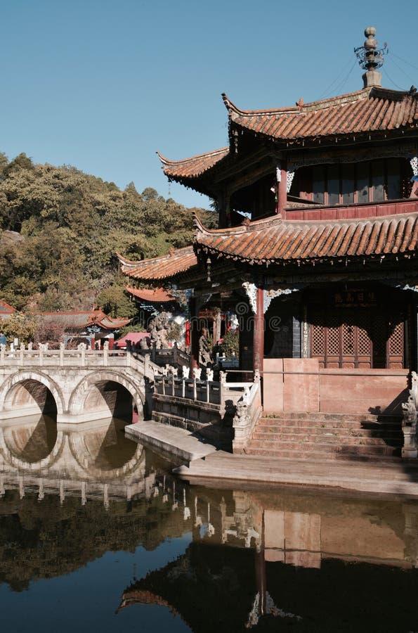 Yuantong tempel Kunming arkivbild