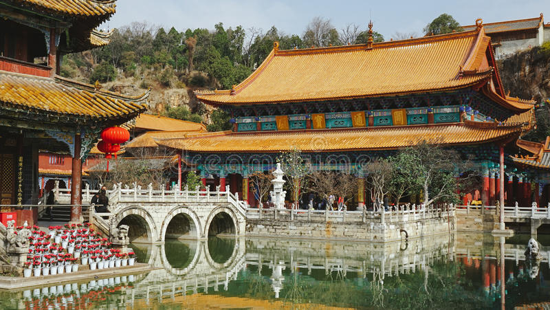Yuantong-Tempel, Kunming, China lizenzfreie stockfotos
