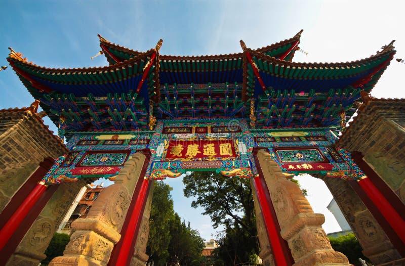 yuantong yunnan för tempel för valvgångporslinframdel royaltyfri fotografi