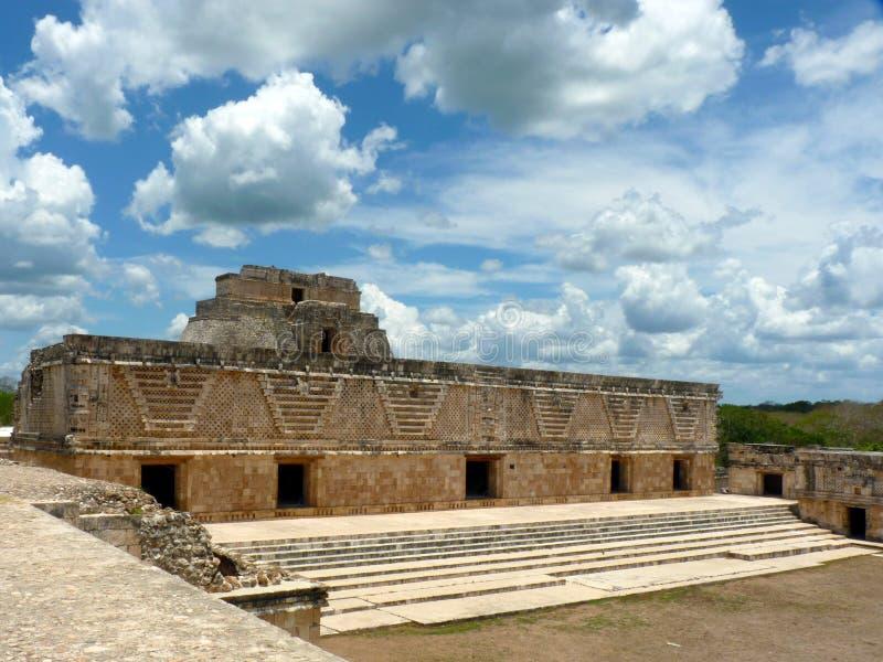 Mexico, Yucatan, Uxmal, May, 25 2013, visit the Ruins of the Nunnery Quadrangle. Yucatan, Uxmal, May, 25 2013, visit the Ruins of the Nunnery Quadrangle royalty free stock photos