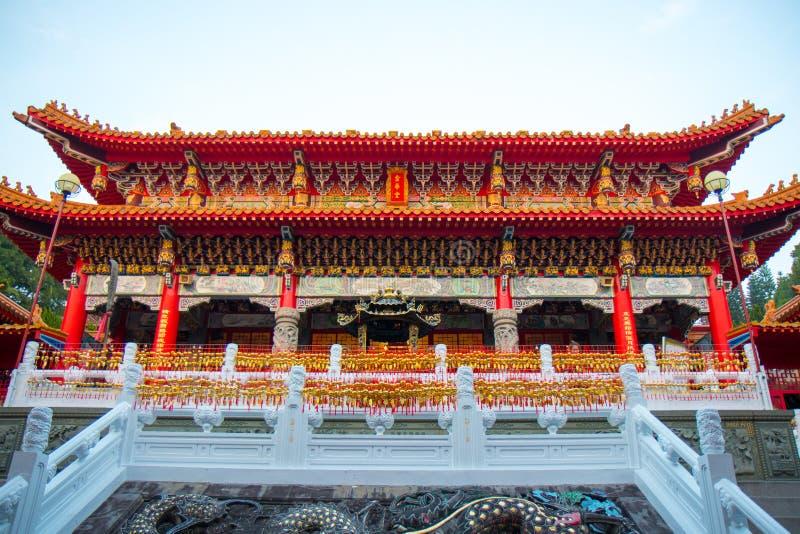 YUCHI, TAIWAN - 15 de novembro de 2017: Templo de Wenwu no lago moon de Sun Nat imagem de stock royalty free