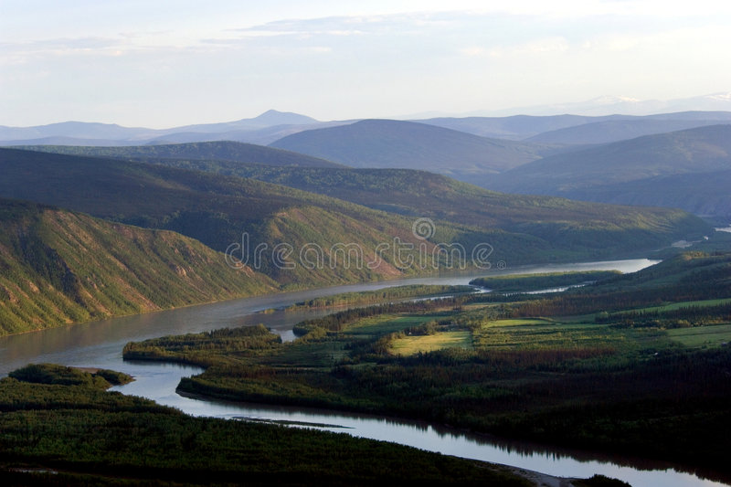 Yucon river stock images