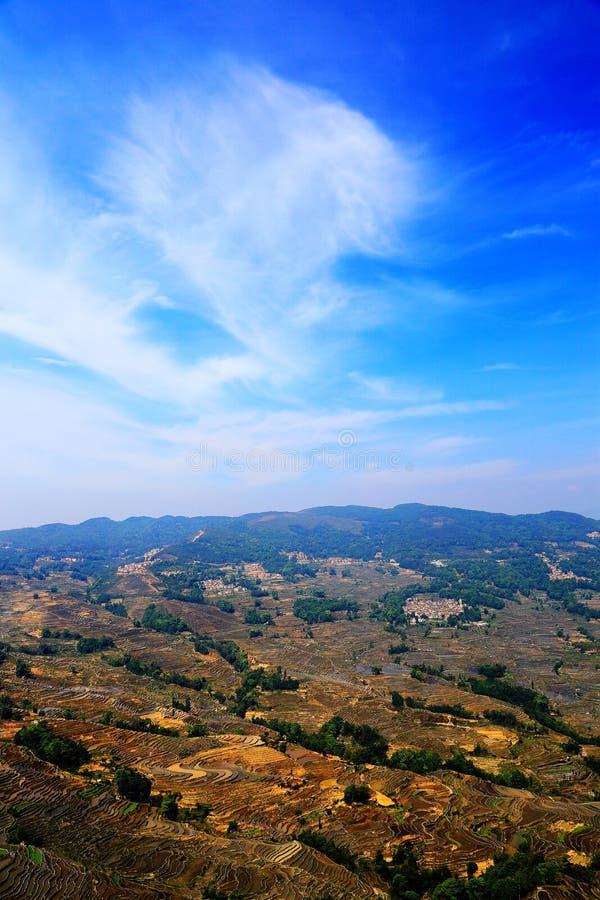 Yuenyang Hani Terrace em Yunnan, China imagens de stock