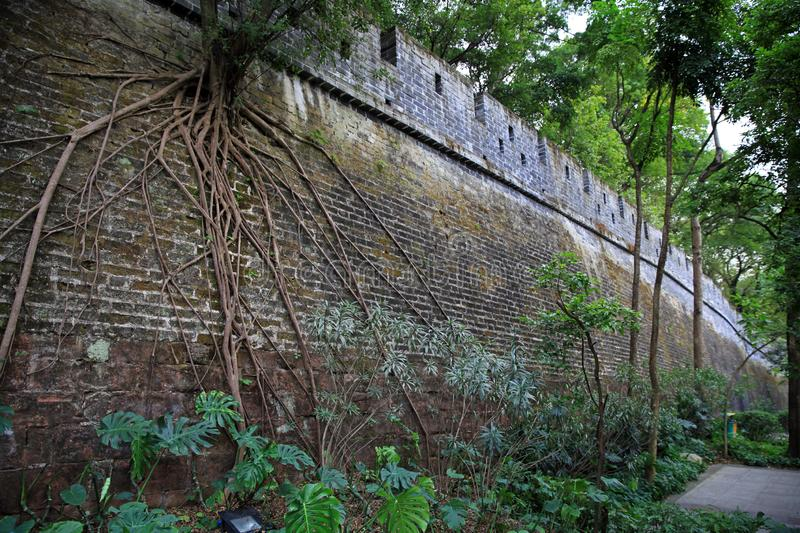 Yuexiu park, guangzhou memory has a period of ancient city wall of Ming dynasty in China. Yuexiu park is memory is a ancient city wall of Ming dynasty, has been royalty free stock images