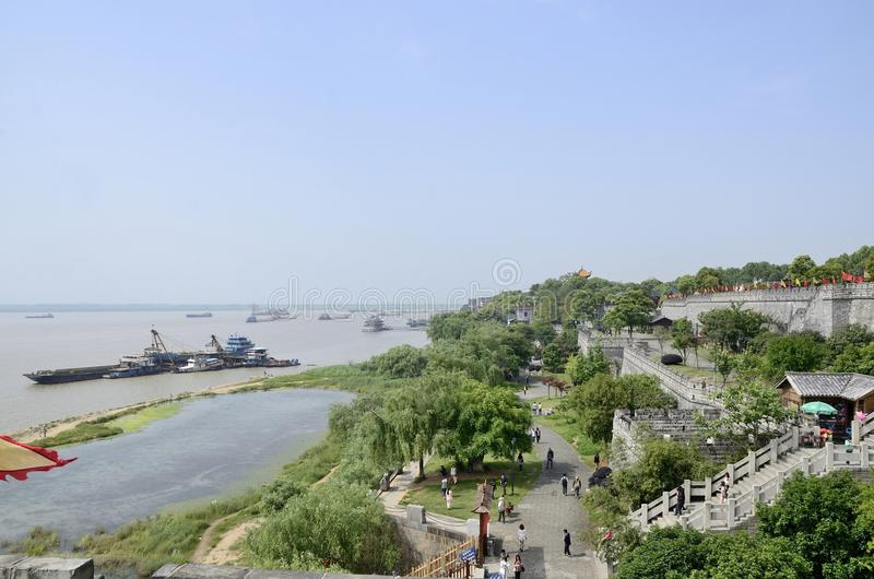 Yueyangstad, de provincie China van Hunan stock foto's