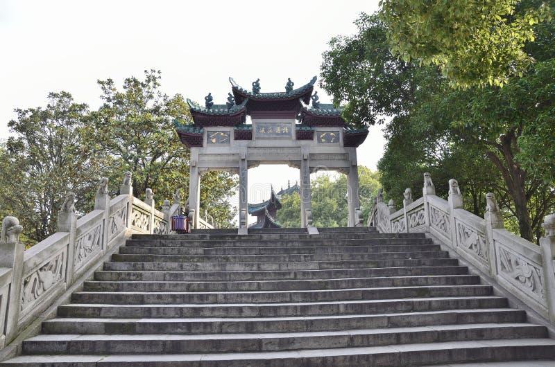 Yueyangstad, de provincie China van Hunan stock fotografie