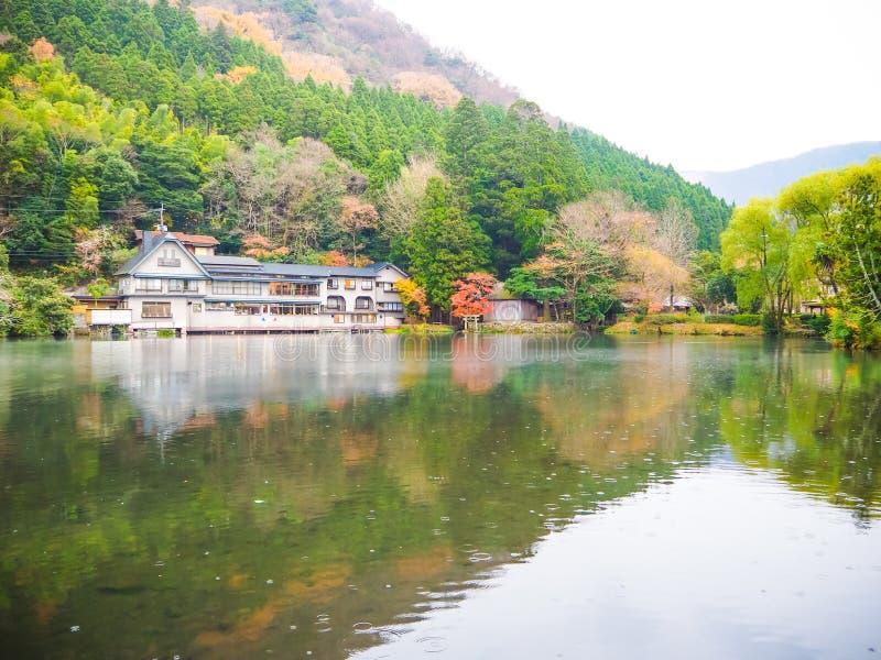 Yufuin旅行城市在九州,日本 免版税库存照片