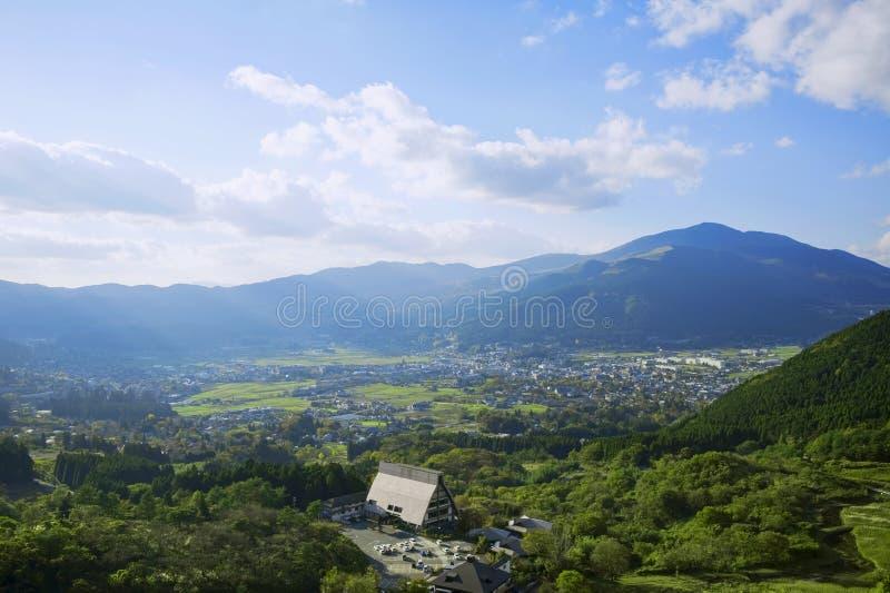 Yufuin krajobraz zdjęcie stock
