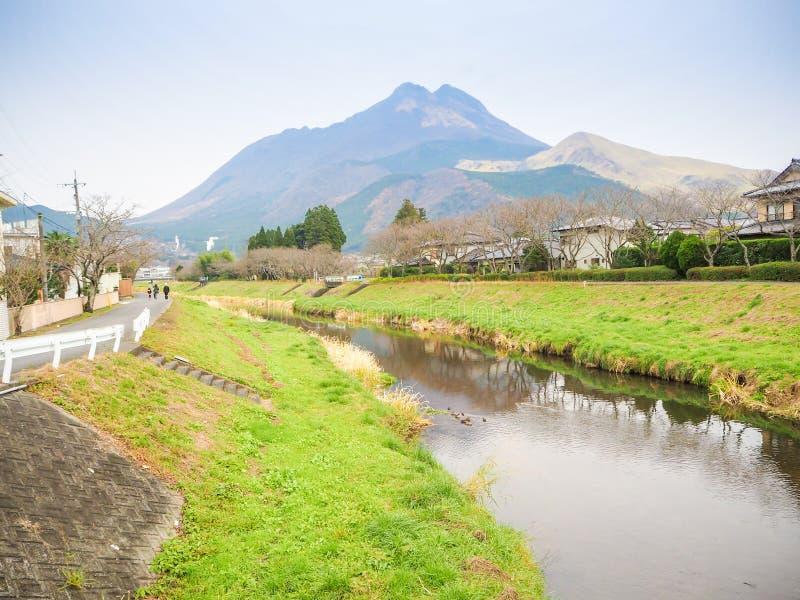 Yufuin Kyushu. Natural view of Mountain Yufu in Yufuin, Kyushu region Japan stock photography