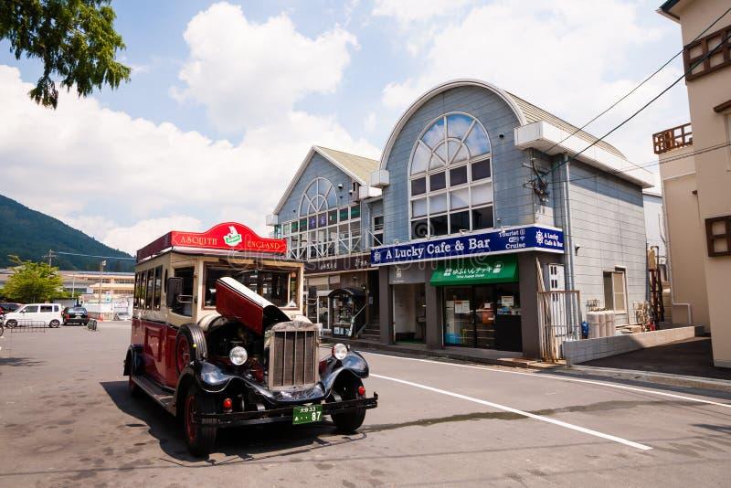 Yufuin Main Street image stock