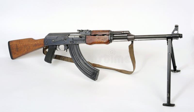 Yugoslavian M72B1 squad machine gun. A Yugoslavian Serbian RPK type light squad machine gun model M72B1. This gun is based on the Russian Soviet RPK machine gun royalty free stock image