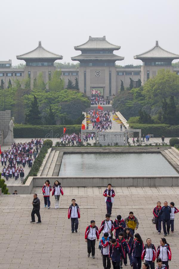Free Yuhuatai Park With Tourist Group, Nanjing, China Stock Photography - 148520262