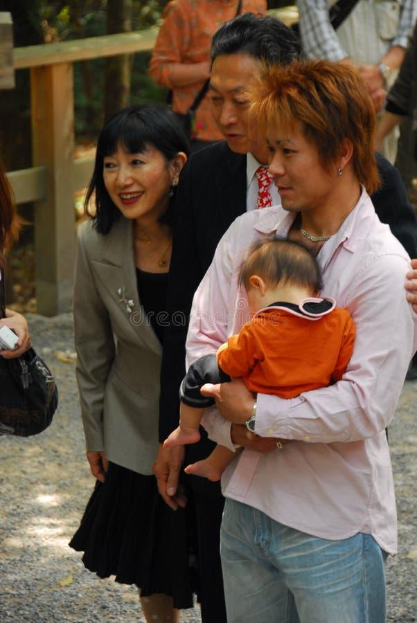 Yukio Hatoyama и жена стоковая фотография